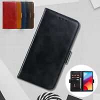 Folio Case For LG G7 ThinQ G6 V30 Q6 G7 Magnetic Flip Leather Wallet Card Cover