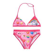 Ropa de baño de niña de 2 a 16 años bikinis rosas de poliamida