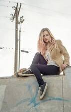Brandon Thomas Women's Suede Blazer Medium  Boho Jacket Tan Hippie