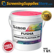 Xenon Fuchsia Pink Plastisol Ink For Screen Printing 1 Quart 32oz