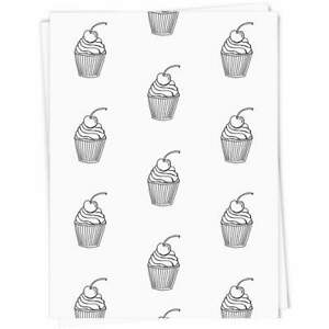 'Cherry Cupcake' Gift Wrap / Wrapping Paper (GI012419)