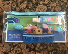 Peppa Pig Brush Buddies Toothbrush Travel Kit ~FREE SHIPPING~NEW
