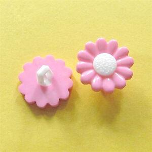 20 Flower Daisy Craft Kid Girl Sweater DIY Bag Novelty Sewing Buttons Pink D203
