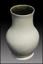 Louis Comfort TIFFANY Original Bisque Pottery Ceramic Signed Flower Vase Antique