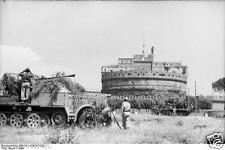 German Army Half Tracks Rome Italy 1944 World War 2 Reprint Photo 6x4 Inch