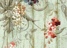York Wallcoverings HA1326 Blue Book Parrots with Floral