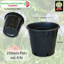 "250mm Plant Pot - Pack of 10 - Plastic Growers Pot (10"") - Garden, Nursery"