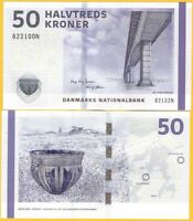 Denmark 50 Kroner p-65f 2013 Sign. Jensen & Sørensen UNC Banknote