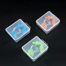Silicone Ear Plugs+Nose Clip Combo Set +Case Swimming Water Pool Protection Tool