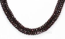 "15.75"" Red Garnet Faceted Rondelle Beads ap.7mm #67022"