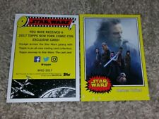 NYCC 2017 exclusive LUKE SKYWALKER Heroes United Star Wars TOPPS card promo rare