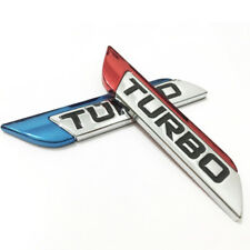 Funny Metal 3D Car Stickers Decal Fender Body Turbo Logo Emblem Badge Sticker