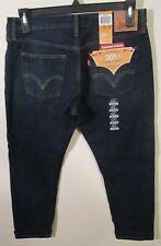 NWT Levis 501 CT Womens Customized Tapered Boyfriend Jeans 30x32 Indigo MSRP$65