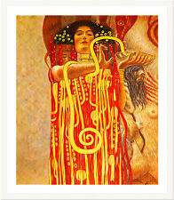 Hygeia from Medicine by Gustav Klimt 75cm x 63cm Framed White