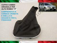 CUFFIA CAMBIO ALFA ROMEO 147 ORIGINALE in PELLE CON AGGANCI gear boot