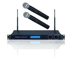 Funkmikrofon-Set 2x Mikrofon Microphon VHF Festfrequenzen Gain Regler System