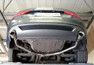 "Audi A5 3.0 TDi Coupe/Cabrio Rear silencer delete pipes - 4"" straight cut tips"