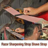 Professional Barber Leather Strop Razor Sharpening Straight Shave Shaving Strap