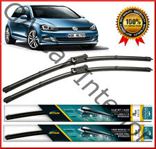 "VW Golf VII Saloon Estate 2013 - 2017  Front Pair Flat Aero Wiper Blades 26""18"""