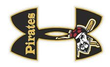 Under Armour Pittsburgh Pirates Baseball Truck/Window Decal Sticker - Set of 3