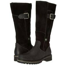 Women Winter Flat Mid Calf Snow Boots Ladies Warm Fur Lined Grip Sole Shoes Size