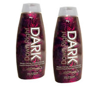 LOT 2 Ed Hardy DOWN RIGHT DARK 30X Black Bronzer Indoor Tanning Bed Lotion