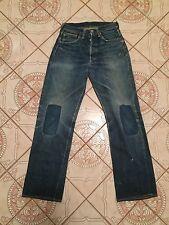 Double X Vtg Leather patch Hidden Rivets Big E Levis 501 Xx 501s Jeans usa 28 31
