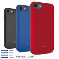 For iPhone 6/6s/7/8 Plus Battery Charging Case Cover External Power Bank Charger