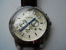 Fossil men's chronograph brown leather band Analog & water resist watch.Fs-4248
