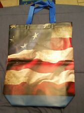 "16"" x 3.5 Tote Shopping Bag tote bag american flag"