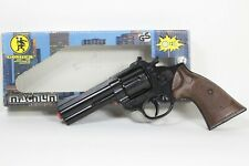 TOY GUN 12 SHOTS MAGNUM POLICE GONHER DIE CAST METAL HEAVY
