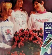 1993 Tulip ColorPoint Paintstitching Transfer Pattern Book Forever Roses 7808F