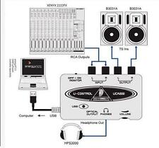 Behringer Chaud UCA202 U-Control Ultra Faible latence 2 In/2 Sortie USB/Audio D,