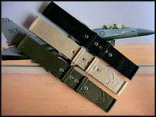 Canvas WWII 2pc Khaki Vintage Army Military watch band nato IW SUISSE 16 18 20mm
