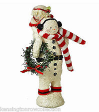 CHRISTMAS DECORATIONS - SNOWMAN CARRYING A CHILD