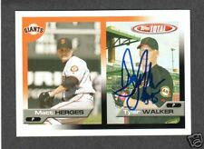 2005 Total #644 Tyler Walker  Rookie  SF GIANTS SIGNED AUTOGRAPH AUTO COA