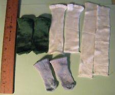 4 Vintage Pair Of Rayon Doll Socks Shirley Temple,Toni,Effanbee Hard Plastic Do