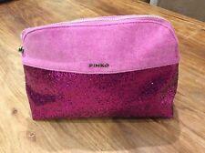 Pinko Bright Pink And Glittered Wash Bag Or Make Up Bag
