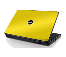 YELLOW Vinyl Lid Skin Cover Decal fits Dell Inspiron 1525 1526 Laptop