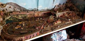 Superbe Maquette train Electrique 65×180