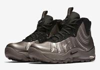 BRAND NEW $225 Nike Air Bakin Posite Foamposite Pewter Silver Black Men's Shoes