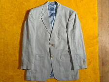 LANDS END ~ LIGHT BLUE & WHITE LINEN ~ JACKET BLAZER ~ Size 38 39 40 R ~Chest 42