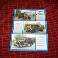 London Cab Company Museum, Mariage & film embaucher Brochure UNIC Low Loader Taxi