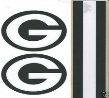GREEN BAY PACKERS FULL SIZE FOOTBALL HELMET DECALS W/STRIPE