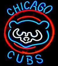 "New Chicago Cubs Retro Logo Neon Light Sign 20""x16"""