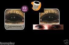 lentille de couleur sclera NOIRE complete integrale lens black contact halloween
