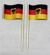 Party-Picker Deutschland Bundesdienstflagge Adler 50 Dekopicker Papierfähnchen