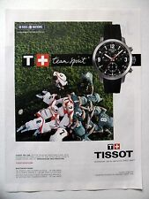 PUBLICITE-ADVERTISING :  TISSOT PRC 200  2015 Montres,Rugby