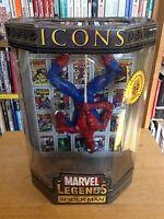 """2006 Toy Biz Marvel Legends Icons 12"""" Upside Down Spider-man Spiderman Figure"""