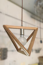 Triangle Timber Pendant Wood Ceiling Light 300mm